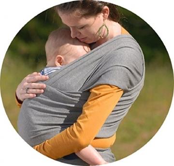 Babytragetuch ✮ elastisches Tragetuch Baby Carrier ✮ Tragetücher für Männer und Frauen ● Babytragen babytuch ● Halten Sie Ihr Baby am Herzen liegt -