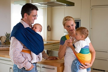Babytuch - das Tragetuch ohne Knoten (5, Nachtblau) -