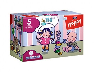 Bella Baby Happy Windeln, Big Pack, Größe 5 (Junior), 12-25 kg, (1 x 116 Windeln) -