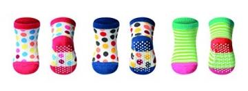 GoFuture Neugeborenen Set - Babypflege Set - Erstaustattung für Neugeborene und Babys mit Pflegeartikel ( Babyschere - Babybürste - Babyzahnbürste - Schwamm - Nagelpfeile) + 3 Paar Babysocken -