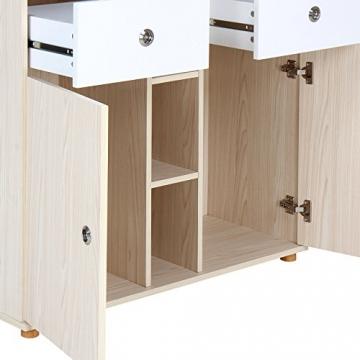 Infantastic Wickelkommode praktischer Wickelschrank Wickelauflage Wickeltisch Eicheoptik inklusive 2 großen Schubladen (LxBxH): ca. 90 x 69 x 92 Farbwahl -