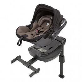 Kiddy 41940EL088 Evoluna i-Size Babyschale inkl. Isofix Base, patentierte KLF-Liegefunktion, i-Size (Geburt-83 cm, Geburt-ca. 15 Monate), Walnut (braun) -