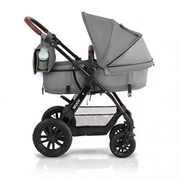 Kinderkraft Kinderwagen Kombikinderwagen 3 in 1 mit Buggy Babyschale grau -