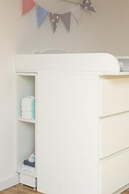KraftKids Stauraumregal für Wickeltisch - weiß passend für MALM Kommode -