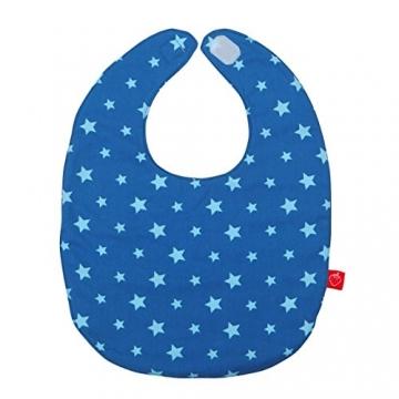Lätzchen mit Namen Baby Sterne in blau (Geburtsgeschenk, Erstaustattung, personalisiert, individualisiert) -