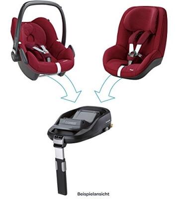 Maxi-Cosi Babyschale Pebble, bis ca. 12 Monate (0-13 kg), ISOFIX-Installation mit Maxi-Cosi Basisstation (separat erhältlich), Innovatives Gurtsystem erleichtert An- und Abschnallen, concrete grey -