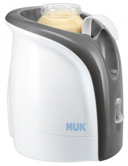NUK 10256317 Babykostwärmer, Thermo Ultra Rapid, erwärmt Babynahrung schonend ab 2 Minuten, inklusive Auto-Adapterkabel für unterwegs -