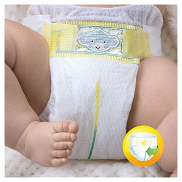 Pampers Premium Protection New Baby Gr. 1 (Newborn), 2–5 kg Halbmonatsbox, 72 Windeln -