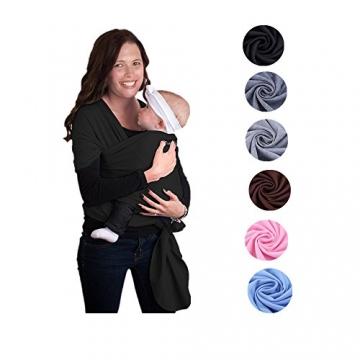 Zogin Elastisches Babytragetuch Baby Carrier Babytragen babytuch für Neugeborene & Babys 0 - 18 Monate, 3 - 12 kg ( schwarz ) -