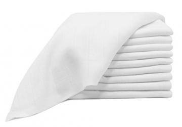 """ZOLLNER® 10er-Set Spucktücher / Windeln / Mullwindeln / Stoffwindeln / Mulltücher ca. 80x80 cm aus 100% Baumwolle, Farbe weiß, schadstoffgeprüft Öko-Tex zertifiziert, Serie """"Kiel"""" -"""