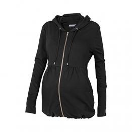2HEARTS Umstands-Jacke Umstandsjacke Schwangerschaftsjacke, Größe 40, schwarz -