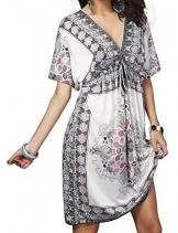 Angerella Damen V-Ausschnitt Pareos & Strandkleider ertuschung Kleid Strand Rock (COP007-W1) -