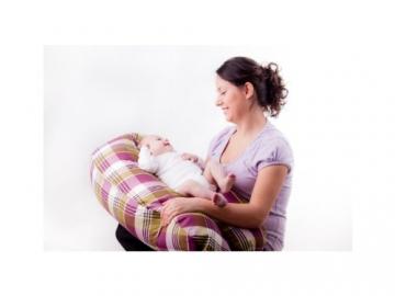 Baby Stillkissen Seitenschläferkissen Lagerungskissen 190 cm 6 Farben XXL (002-Mikroperlen) -
