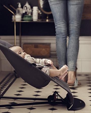 BabyBjörn 005084 Babywippe Balance Soft, Cotton / Jersey, dunkelgrau / grau -