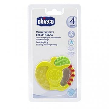 Chicco Beißring Erdbeere/Apfel, Fresh Relax, 4+ Monate, gefüllt mit sterilem Wasser, sortiert -