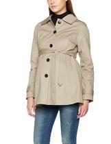 MAMALICIOUS Damen Umstandsmantel Mlpathy L/S Trench Coat, Beige (Moon Rock), 38 (Herstellergröße: M) -