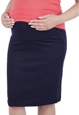 Mija - Schwangerschaftsrock aus Strickstoff mit extra Bauch-Panel 3045 (36 / 38, Navy) -
