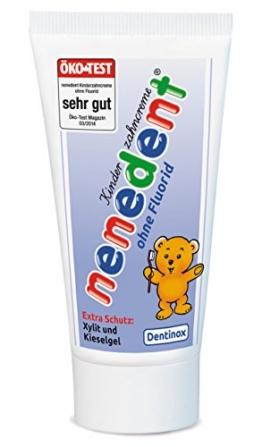 Nenedent Kinderzahncreme ohne Fluorid, 50 ml, 4er Pack (4 x 0.05 l) -