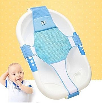 Neugeborene Baby Badesitz StillCool Schätzchen neugeboren Badewanne Sicherheitsbadesitz Unterstützung Babyparty Badezubehör (Blau) -