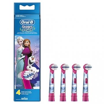 Oral-B Stages Power Kids Aufsteckbürsten, im Eiskönigin - völlig unverforen Design, 4 Stück -