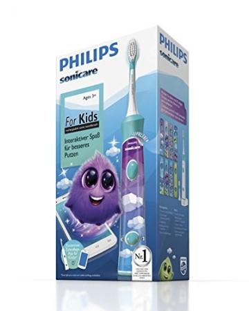 Philips Sonicare For Kids ConnectedElektrische Zahnbürste mit Schalltechnologie für Kinder (HX6322/04) -