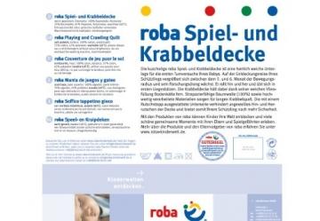 Roba 1406 S145 Spiel- und Krabbeldecke Jumbotwins, grau -