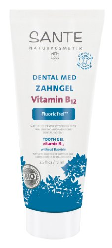 SANTE Dental Med Zahngel Vitamin B12 ohne Fluorid 4er-Pack (bio, vegan, Naturkosmetik) (B12 Gel x4) -