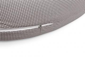 Sei Design® Stillkissen Schwangerschaftskissen 170x30cm | Füllung: schadstoffgeprüfte 3-D Faserbällchen Ökotex zertifiziert. Bezug mit Reißverschluss und hochwertiger Stickerei. Ideal für unterwegs (Taupe-Waschbär) -