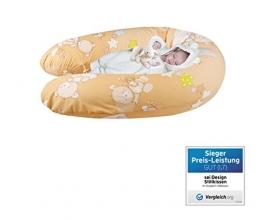 Sei Design® Stillkissen Schwangerschaftskissen XXL 190 x 30cm | Füllung: schadstoffgeprüfte 3-D Faserbällchen Ökotex zertifiziert. Bezug mit Reißverschluss und hochwertiger Stickerei. -
