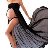 Sexy schwangere Frauen Fotografie Stützen, Maternity Gown Split Front Foto Shoot Kleid, Maternity Photographic Röcke by TrivingTech (schwarz) -