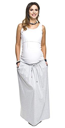 Umstandsrock, Schwangerschaftsrock MADI, Rock für Schwangere von Torelle, hochwertige Baumwolle! Hellgrau S -