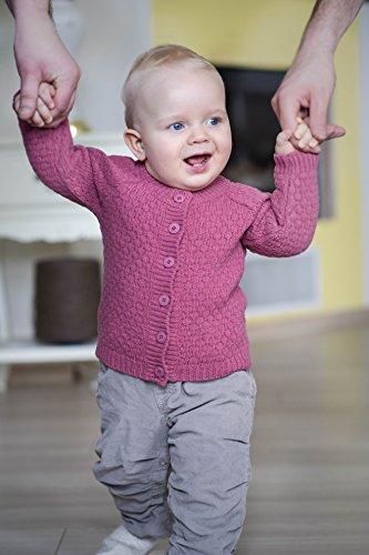 100% weicher Merinowolle Pullover Größe 62cm, natürlich, umweltfreundlich und antiallergische Bekleidungs NORD SNOW in Europa (80, Rosa) -