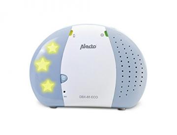 Alecto DBX-85 ECO, Digitales Audio Eco Dect Babyphone (100% störungsfrei, Gegensprechanlage, Weiß) -