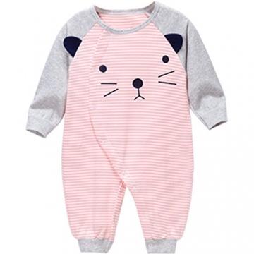 Bebone Baby Strampler Jungen Mädchen Overalls Baumwolle Babykleidung (3-6 Monate, Rosa) -