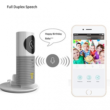 Cadrim DOG-1W-Grey WiFi 720P IP Funk Überwachungskamera Wlan mit Babypflege Monitor, grau -