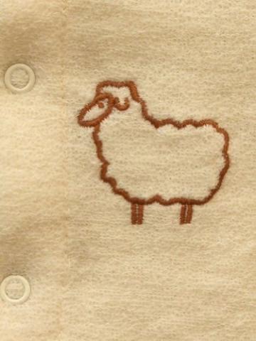 Einteiliger Schlafanzug mit Fuß, 100% Merinowolle, Engel Natur, Gr. 50/56 , Farbe Natur -