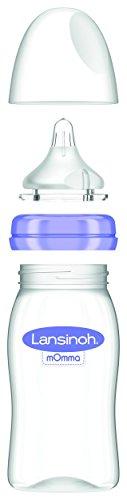 Lansinoh 75890 Weithalsflasche mit NaturalWave Sauger Gr. M, 2 Stück, 240 ml -