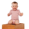 Living Crafts Baby Langarm-Body aus Bio-Wolle/Seide -