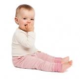 Living Crafts Lange Hose Baby/Kinder aus Bio-Wolle und Seide -