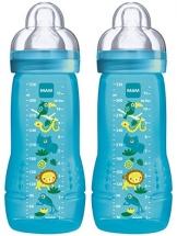 MAM 99950500 - Easy Active Baby Bottle 330 ml, Babyflasche, Doppelpack für Jungen -