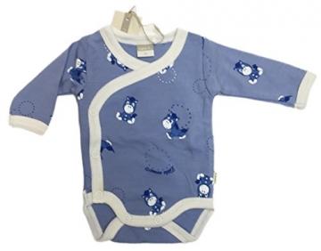 Name it Body Willi für Frühchen und Neugeborene Blau 100% Merinowolle Gr. 48 -