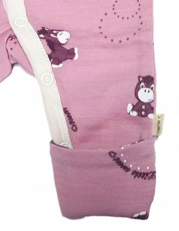 Name it Strampler Willi für Frühchen und Neugeborene Pinkrosa Altrosa bunt 100% Merinowolle Gr 40 -