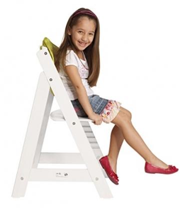 roba Hochstuhl, Treppenhochstuhl Sit Up III, mitwachsender Kinderhochstuhl aus Holz, weiß -