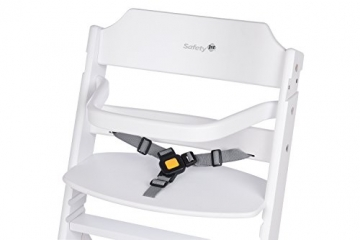 Safety 1st Timba Mitwachsender Hochstuhl, abnehmbares Tischchen, aus massivem Buchenholz, hohe Rückenlehne, ab ca. 6 Monate bis ca. 10 Jahre (max. 30 kg), weiß -