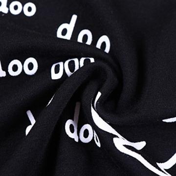 Tiaobug Baby Unisex Outfits Sommer Kleidung Set ärmellose Top Shirt + Kurze Hose Baby Kleidung Baumwolle für Kleinkind Schwarz+weiß 68-80 (Herstellergröße: 70) -